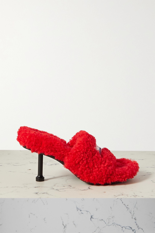 Balenciaga Mules en peau lainée synthétique Furry