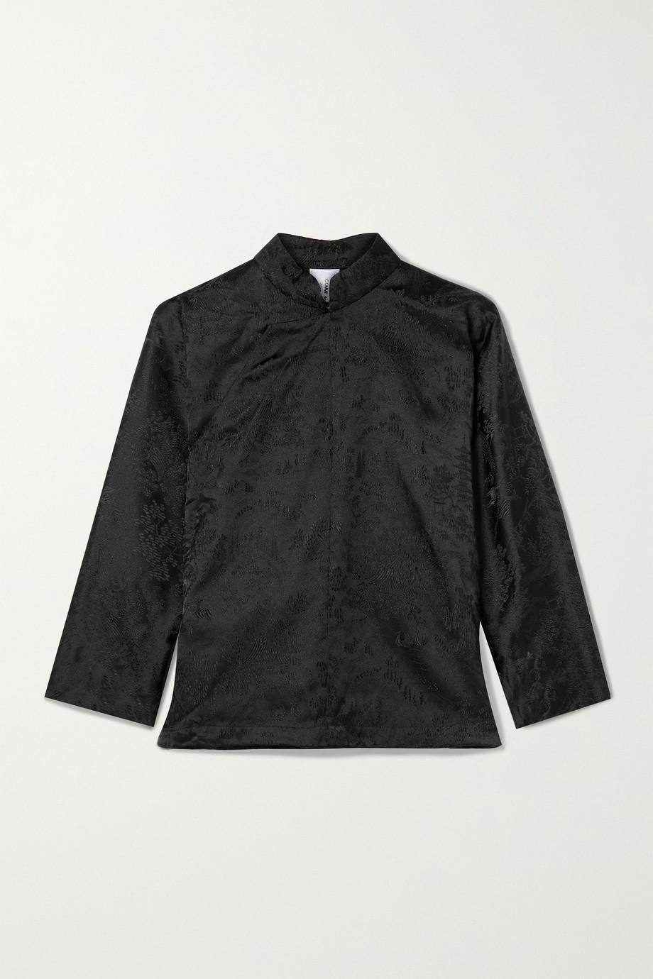 Comme des Garçons Comme des Garçons Bluse aus glänzendem Jacquard
