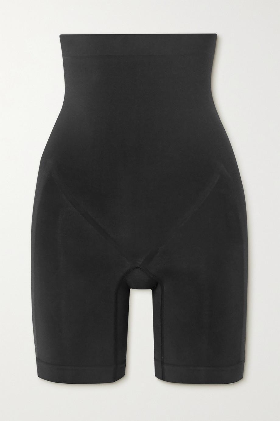 SKIMS High Waisted Bonded Short – Onyx – Gebondete hoch sitzende Shorts
