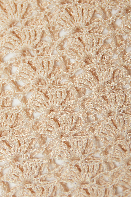 Cult Gaia Tyra cutout crochet-knit maxi dress
