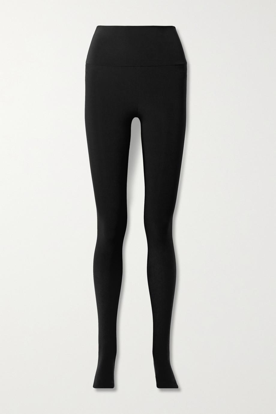Norma Kamali Stretch-jersey stirrup leggings