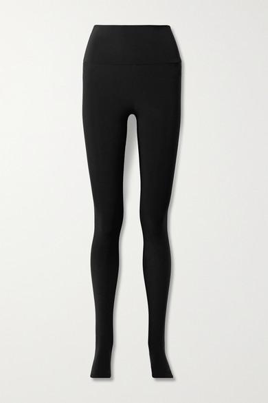 Norma Kamali Stretch-jersey Stirrup Leggings In Black