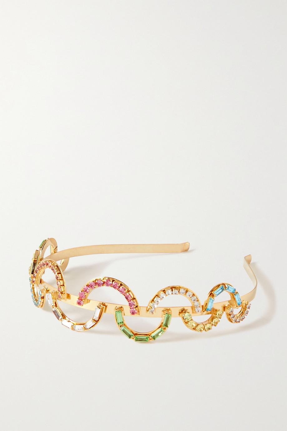 Rosantica Brio goldfarbener Haarreif mit Kristallen