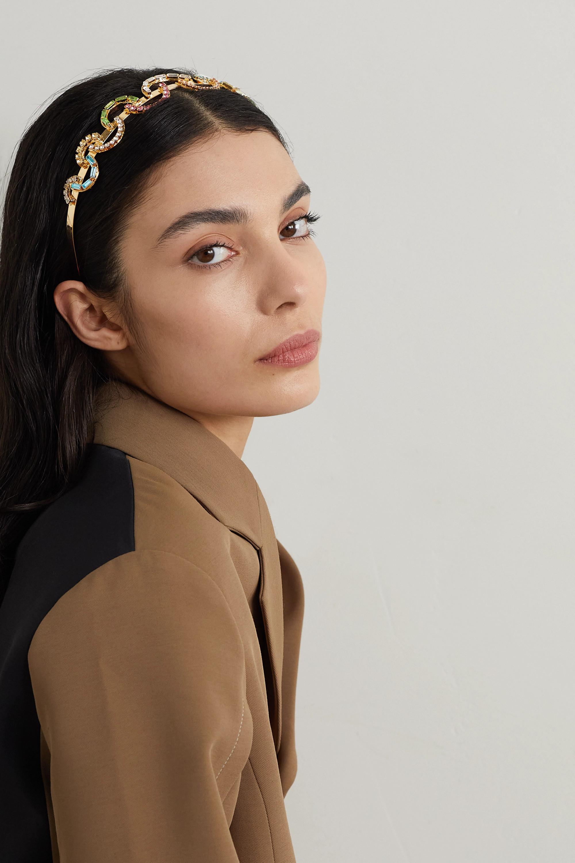 Rosantica Brio gold-tone crystal headband