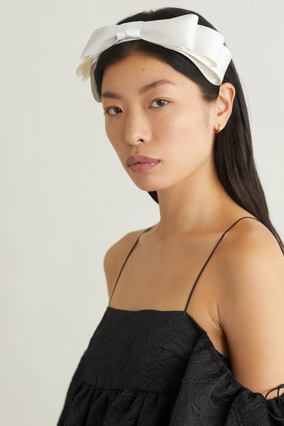 Jennifer Behr Katya bow-embellished satin headband