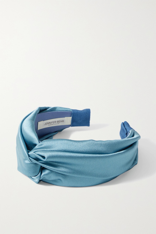 Jennifer Behr Twist silk-satin headband