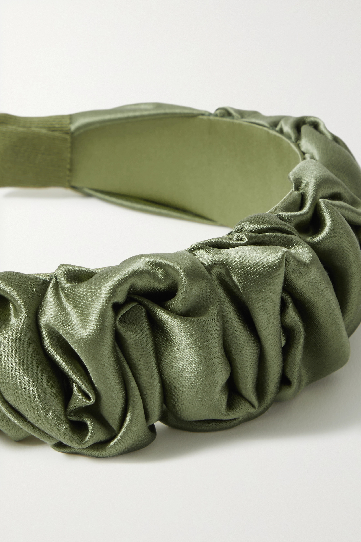 Jennifer Behr Amelia ruched silk-satin headband