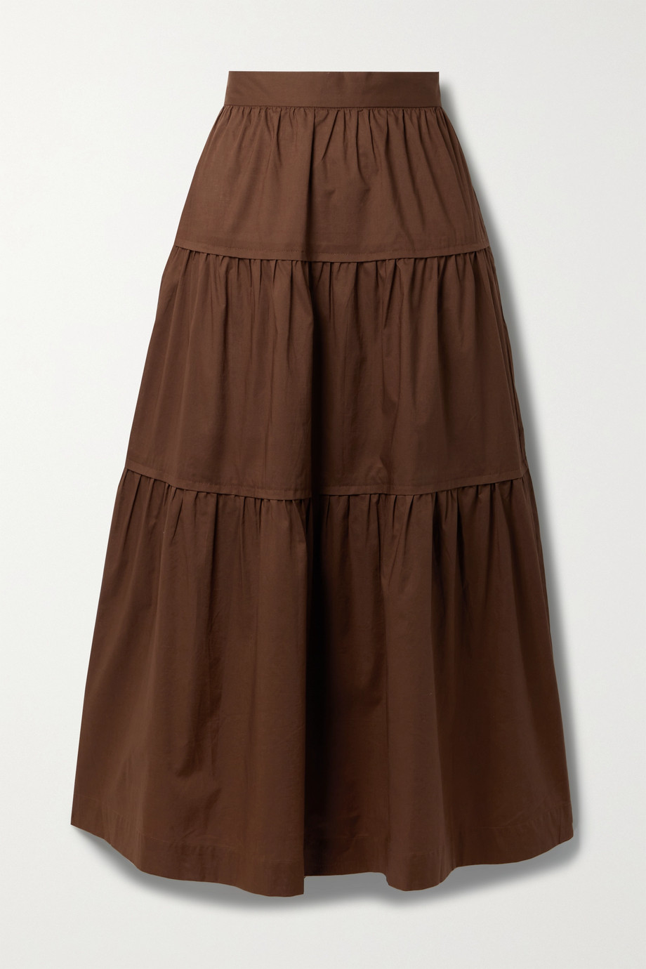 Three Graces London Omisha tiered cotton-voile maxi skirt
