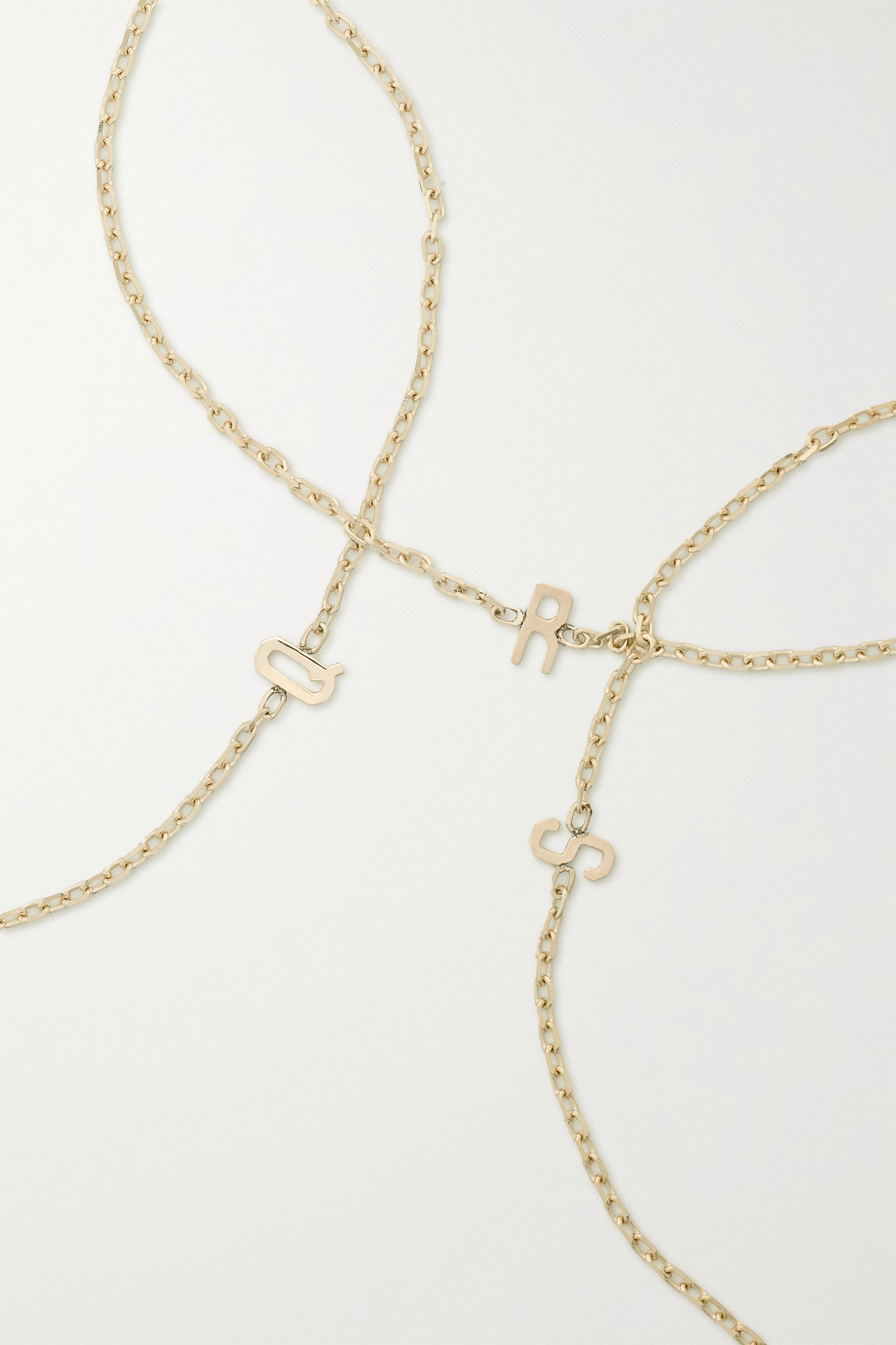 STONE AND STRAND Initial gold bracelet
