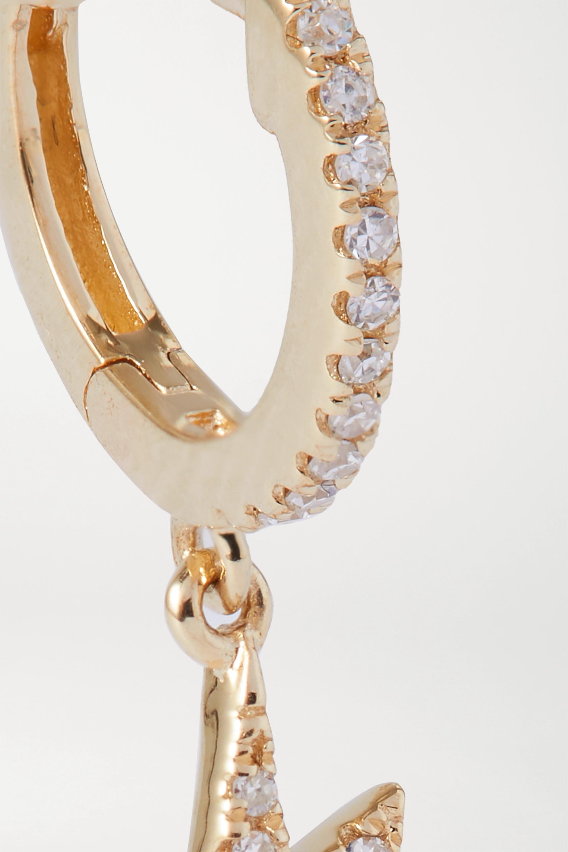 STONE AND STRAND Creole aus Gold mit Diamanten