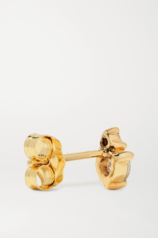 STONE AND STRAND Boucle d'oreille unique en or et pierres multiples Birthstone