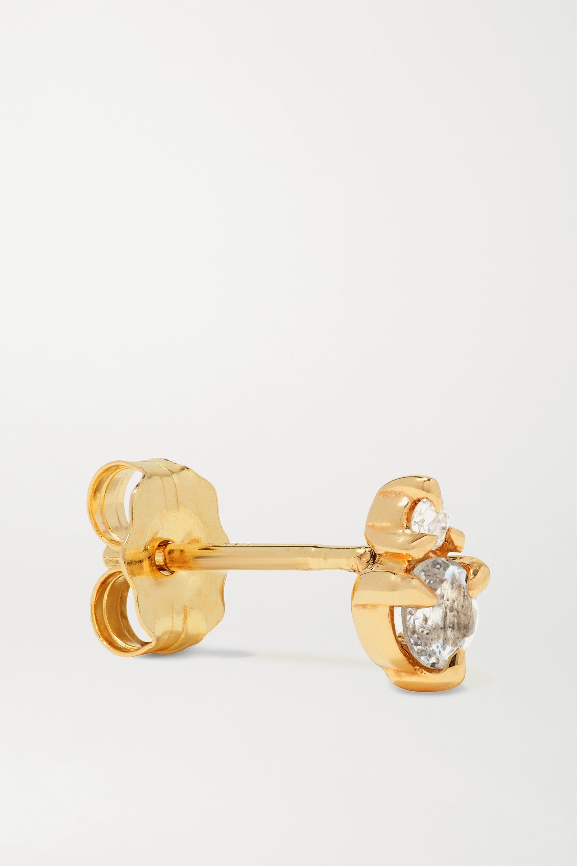 STONE AND STRAND Birthstone gold multi-stone single earring