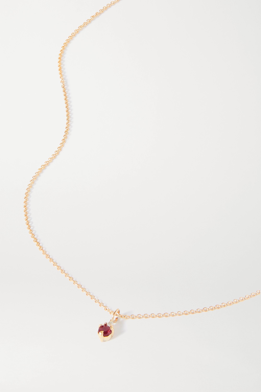 STONE AND STRAND Kette aus Gold mit Diamant und Geburtsstein