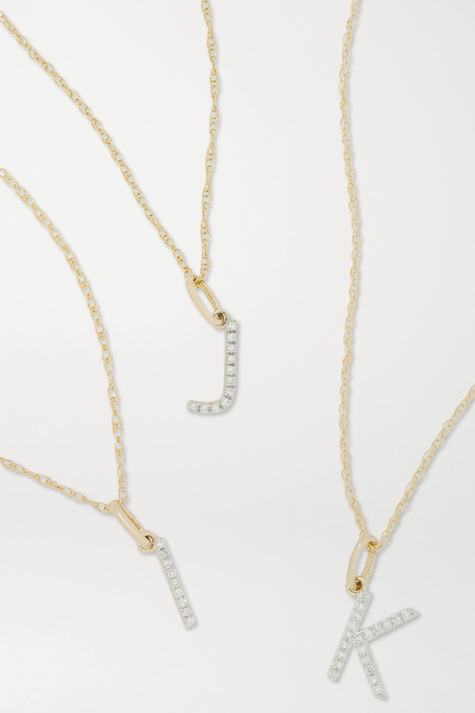 STONE AND STRAND - Alphabet 9-karat gold diamond necklace