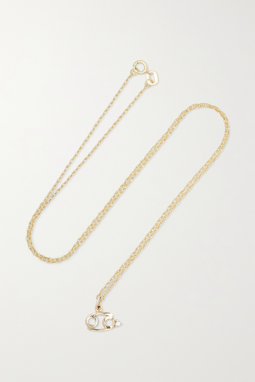 STONE AND STRAND Zodiac 9-karat gold diamond necklace