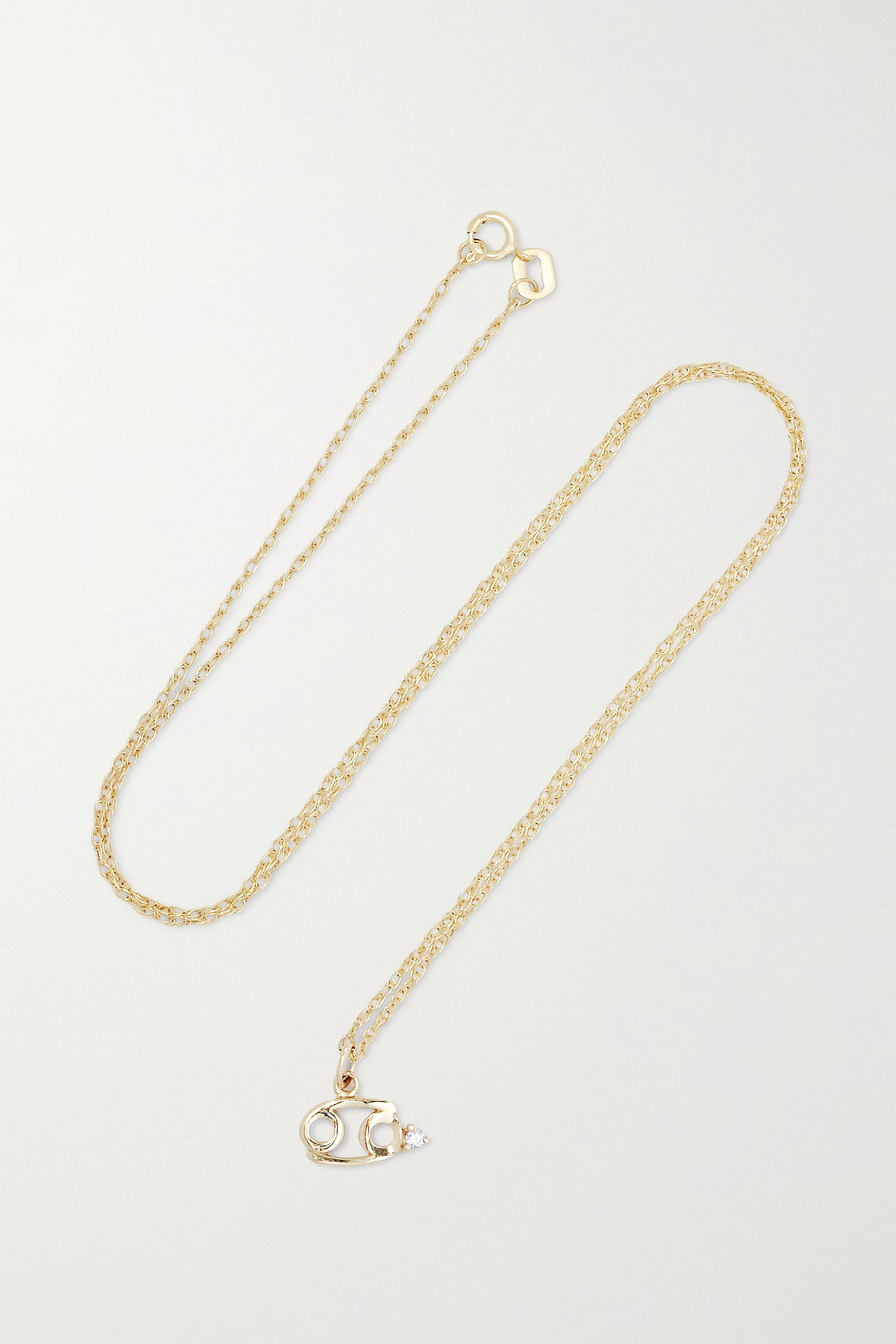 STONE AND STRAND Zodiac 9-karat gold diamond necklace