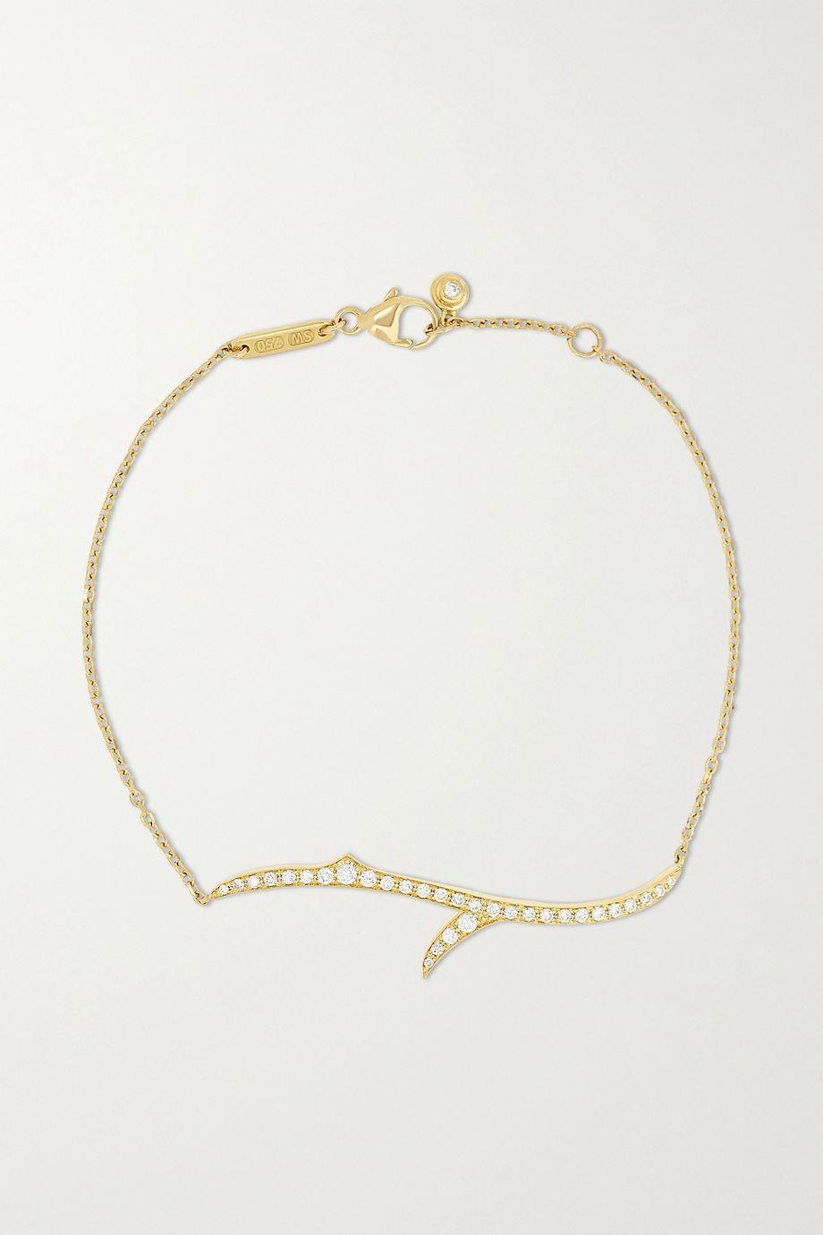 Stephen Webster + NET SUSTAIN Thorn Stem 18-karat recycled gold diamond bracelet