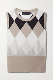 Arch4 Duke of York argyle organic cashmere tank
