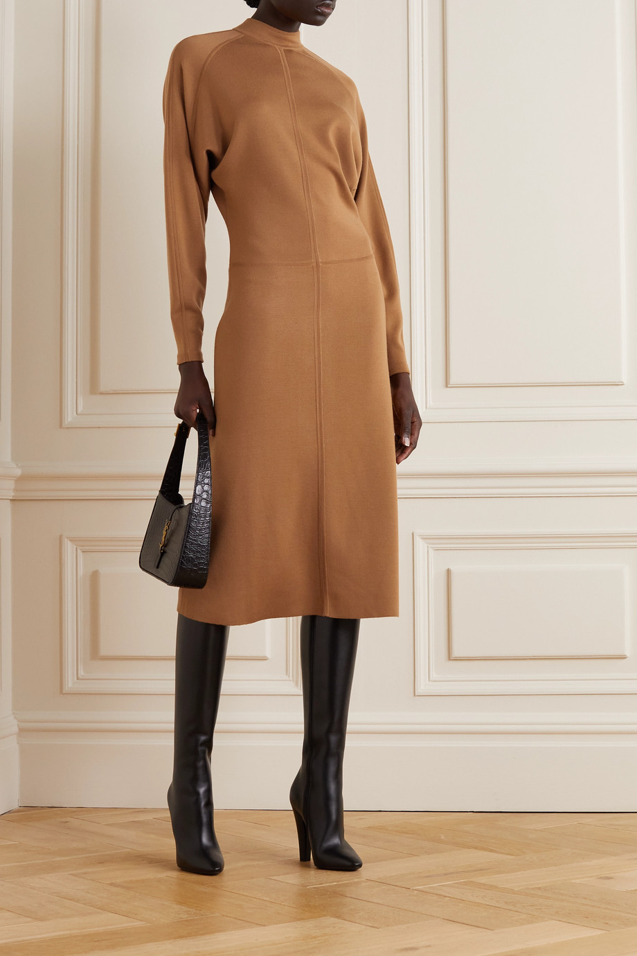 SAINT LAURENT Wool midi dress