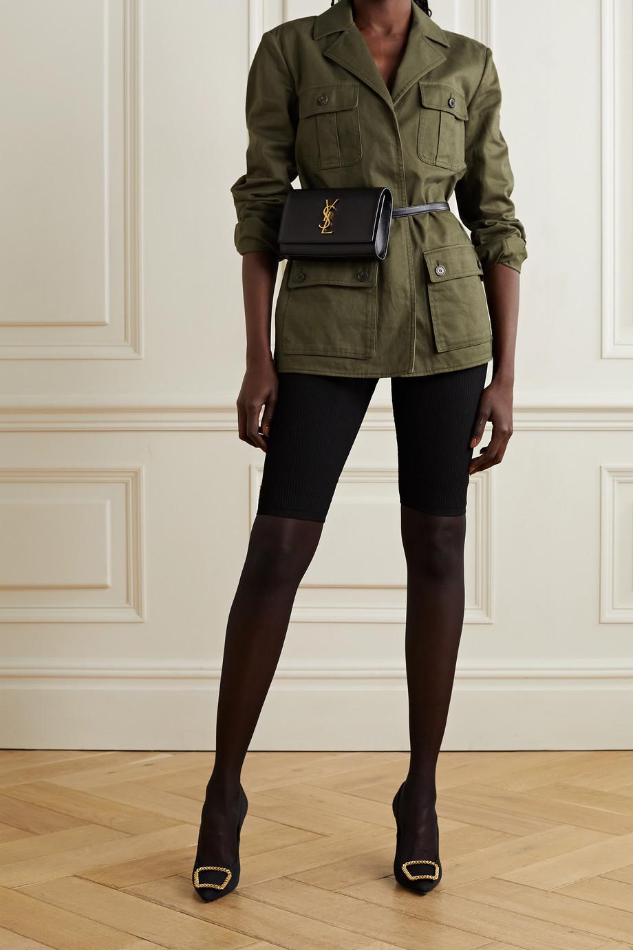 SAINT LAURENT Saharienne belted cotton and ramie-blend twill jacket