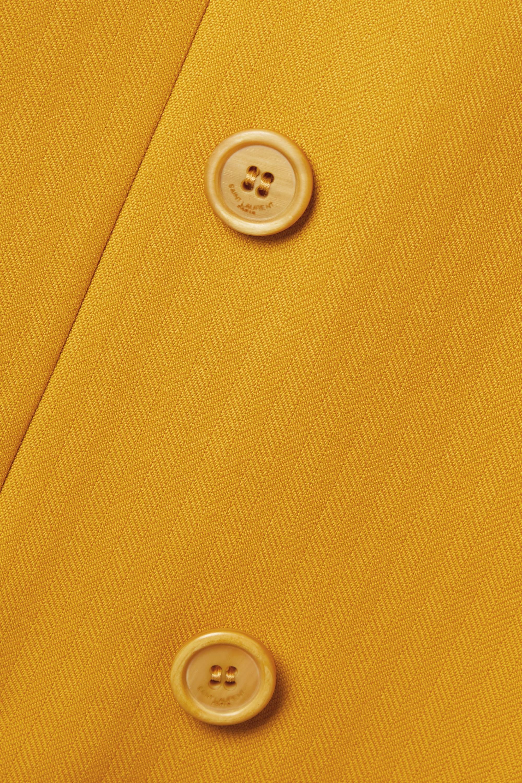 SAINT LAURENT Double-breasted herringbone wool blazer