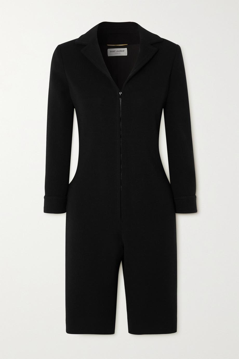 SAINT LAURENT Combi-short en jersey de laine mélangée