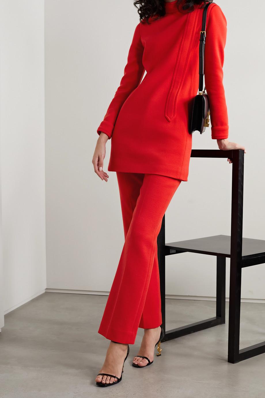 SAINT LAURENT Wool-blend straight-leg pants