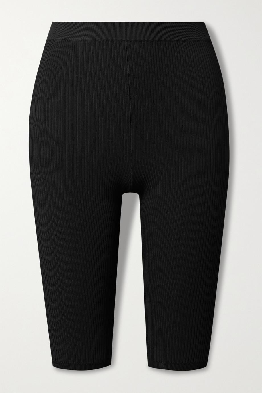 SAINT LAURENT Shorts aus geripptem Stretch-Strick