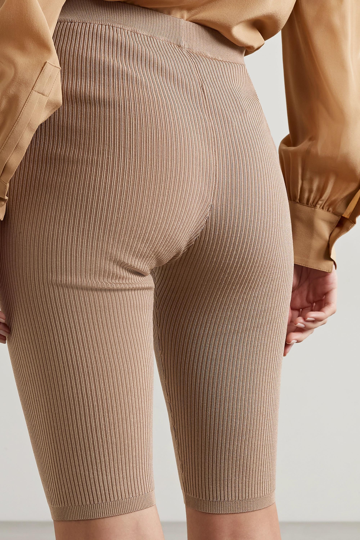 SAINT LAURENT Ribbed stretch-knit shorts