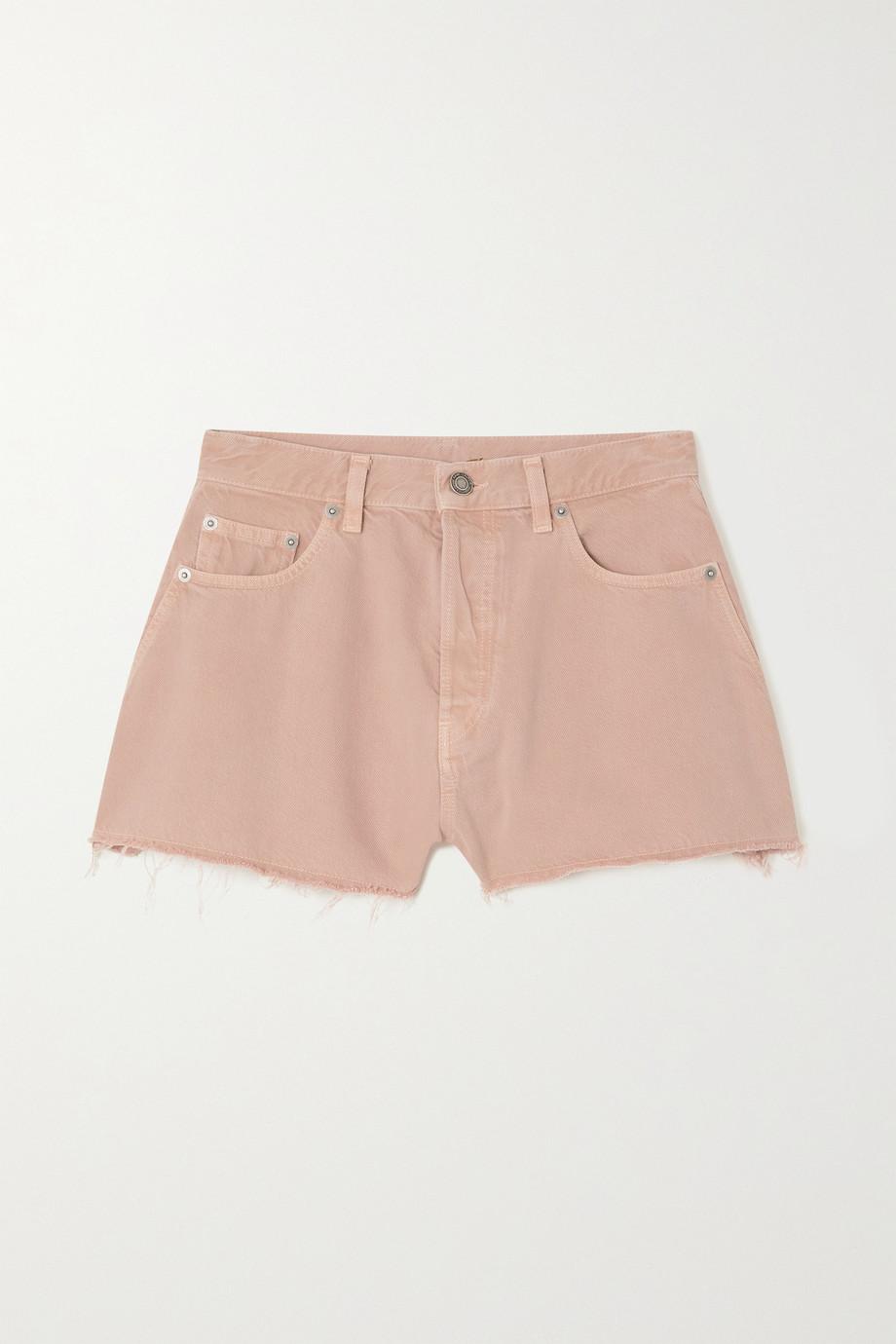 SAINT LAURENT Frayed denim shorts