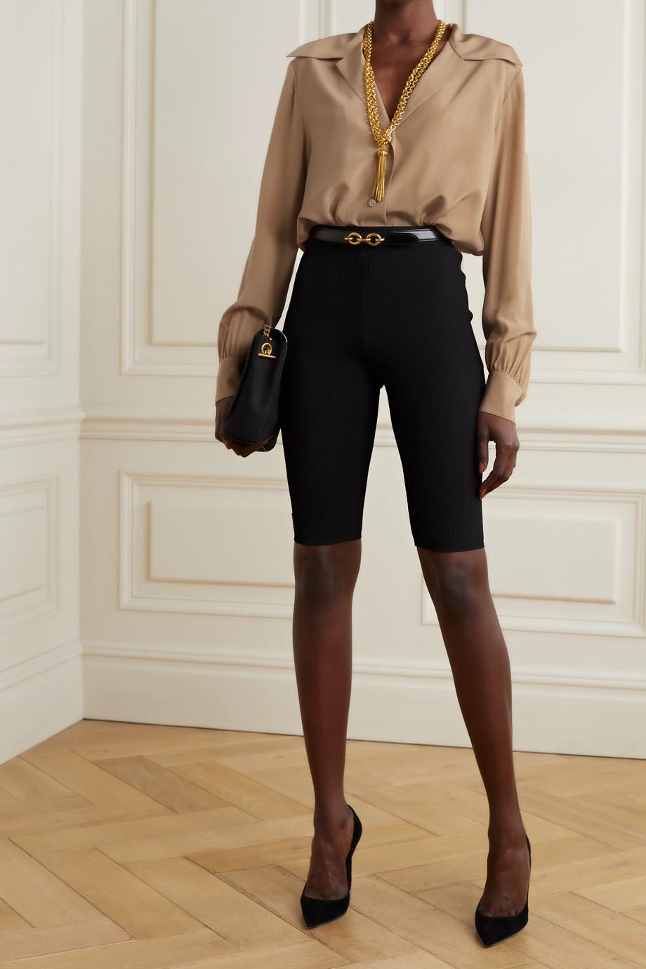 SAINT LAURENT Silk-crepe blouse