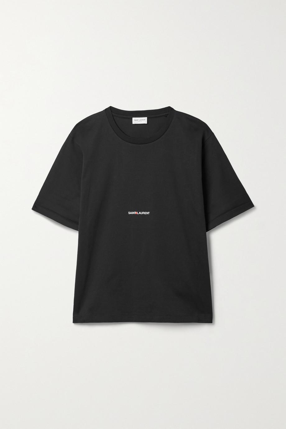 SAINT LAURENT T-shirt en jersey de coton imprimé