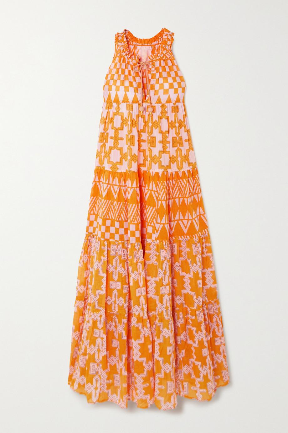 Yvonne S Hippy Maxikleid aus bedrucktem Baumwoll-Voile