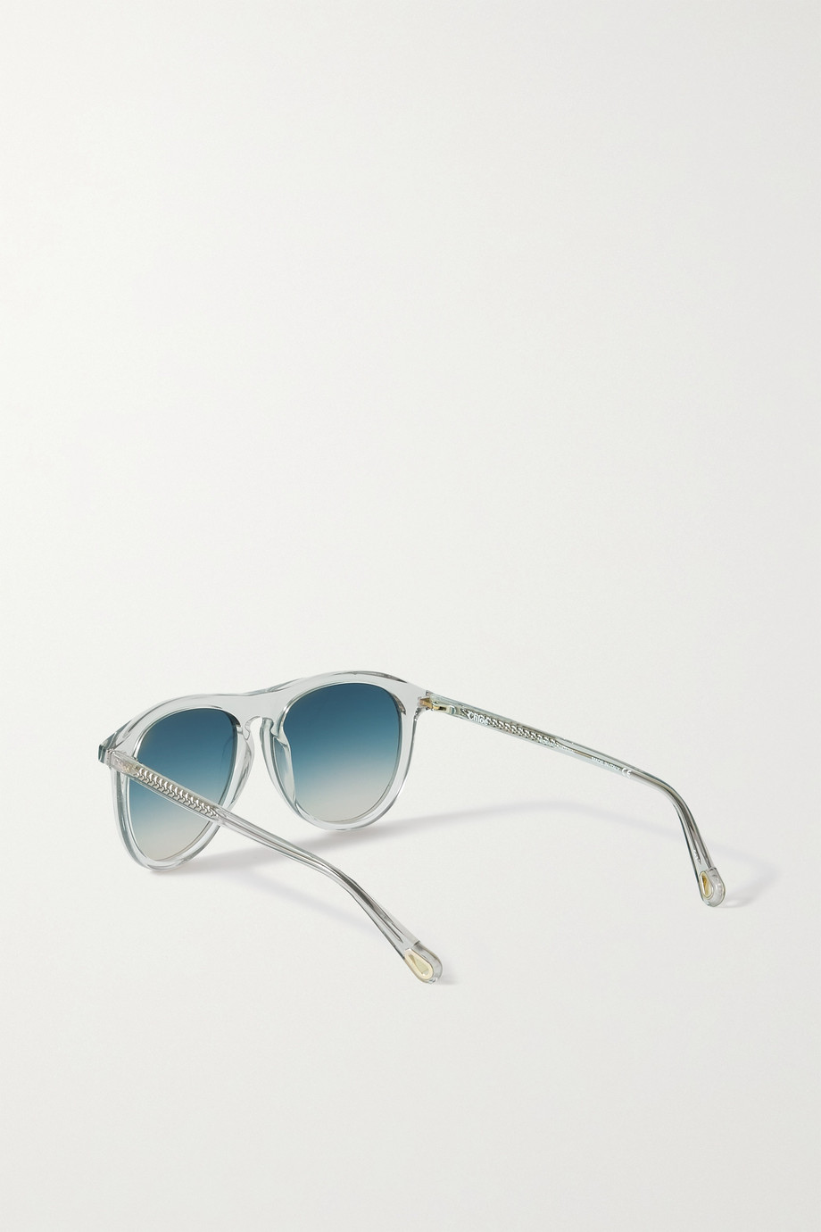 Chloé Wayfarer Sonnenbrille mit rundem Rahmen aus Azetat