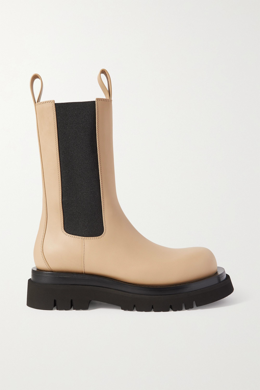 Bottega Veneta Lug Chelsea Boots aus Leder mit Gummibesatz