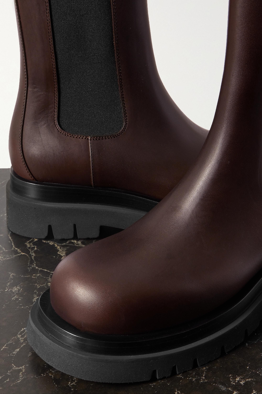 Bottega Veneta Bottines chelsea en cuir à finitions en caoutchouc Lug