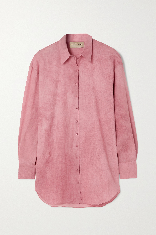 Cortana + NET SUSTAIN Rose cotton shirt