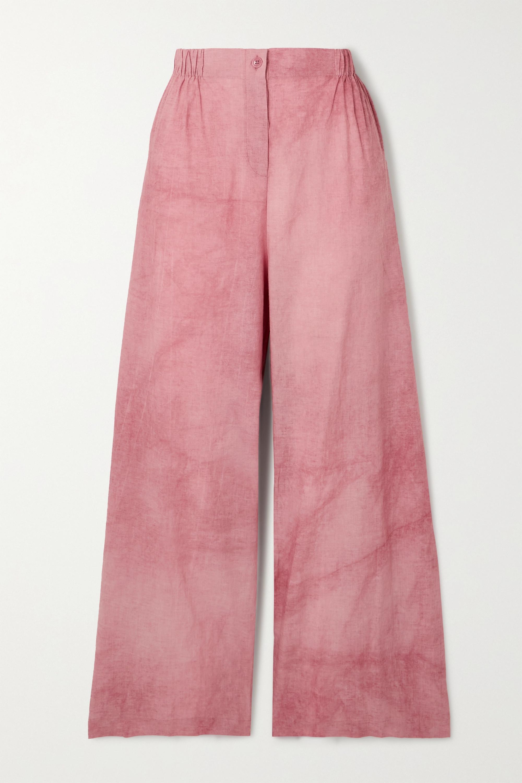 Cortana + NET SUSTAIN Rose cotton wide-leg pants