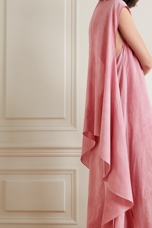 Cortana + NET SUSTAIN Rose knotted convertible cotton maxi dress