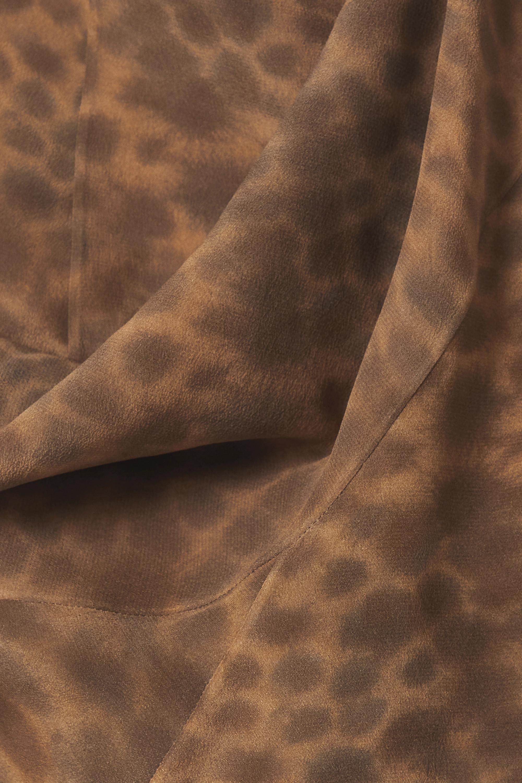 Cortana + NET SUSTAIN Felino asymmetric leopard-print silk maxi dress