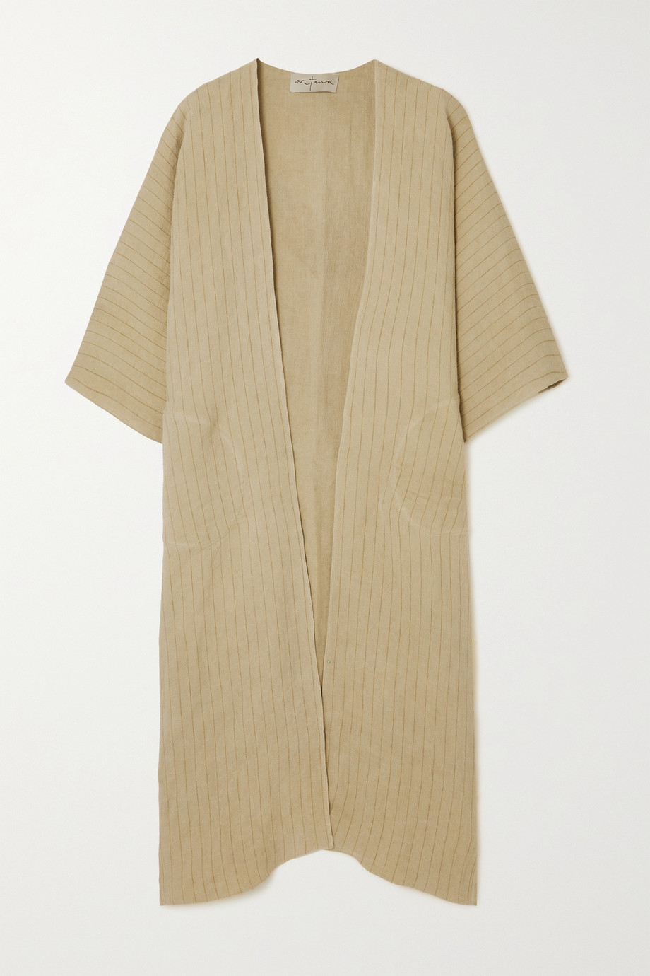 Cortana + NET SUSTAIN Paja striped linen jacket