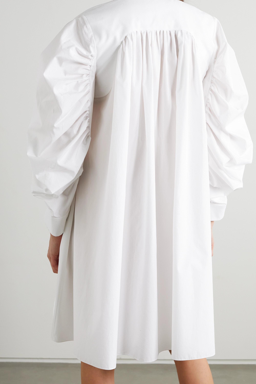 Alexander McQueen Hemdblusenkleid aus Baumwollpopeline mit Raffungen