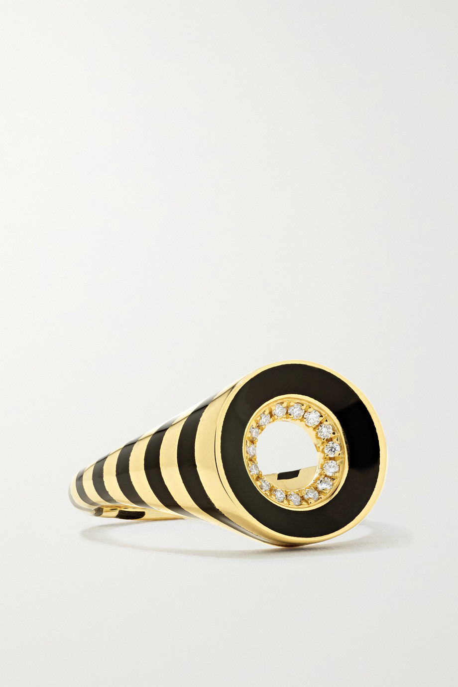 State Property Rinzō 18-karat gold, enamel and diamond ring