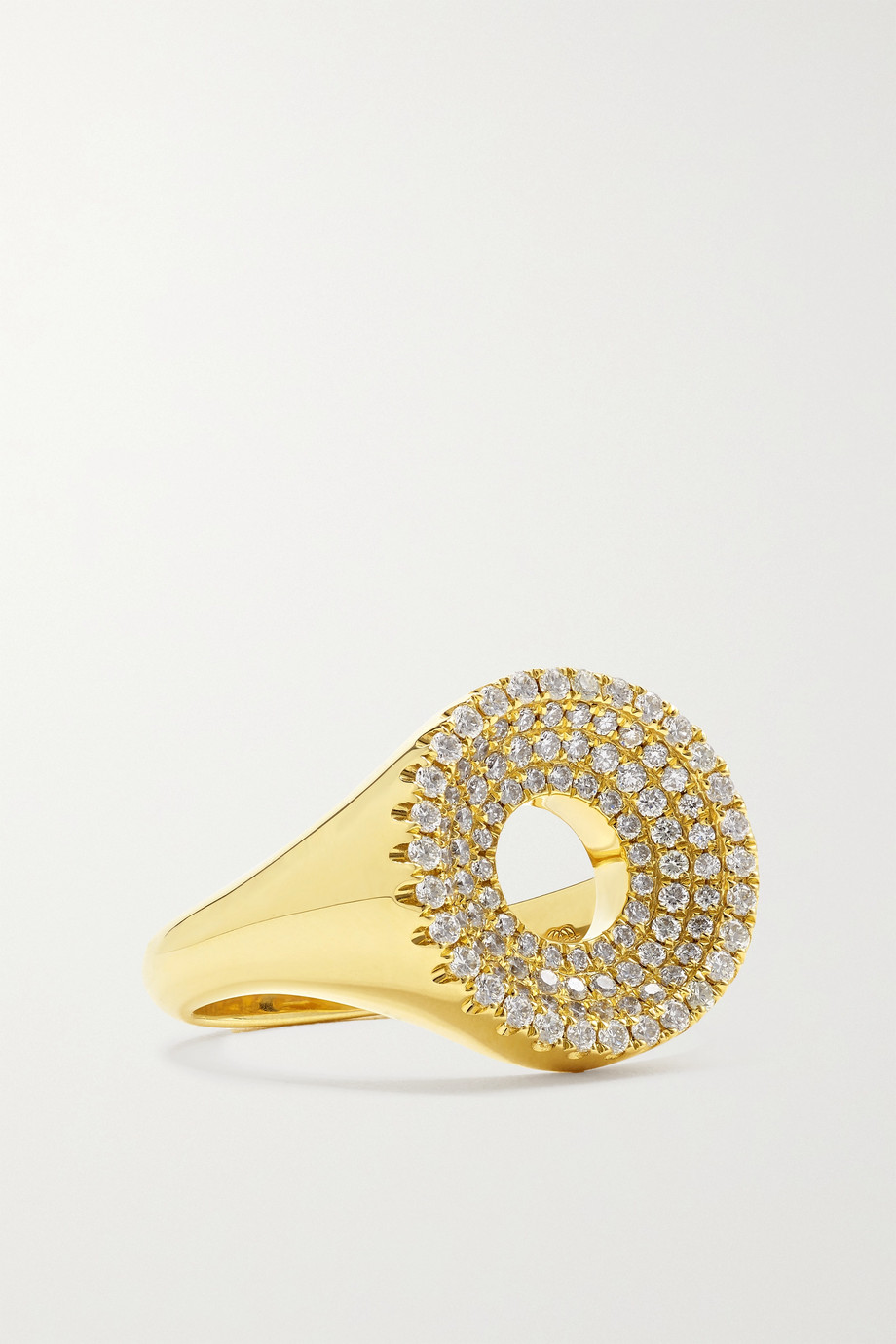 State Property Drew Ring aus 18 Karat Gold mit Diamanten
