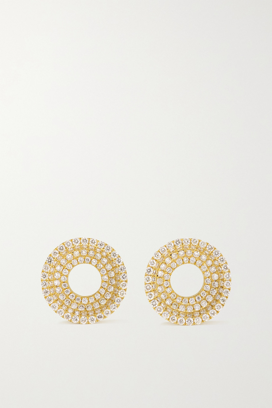 State Property Boucles d'oreilles en or 18 carats et diamants Drew