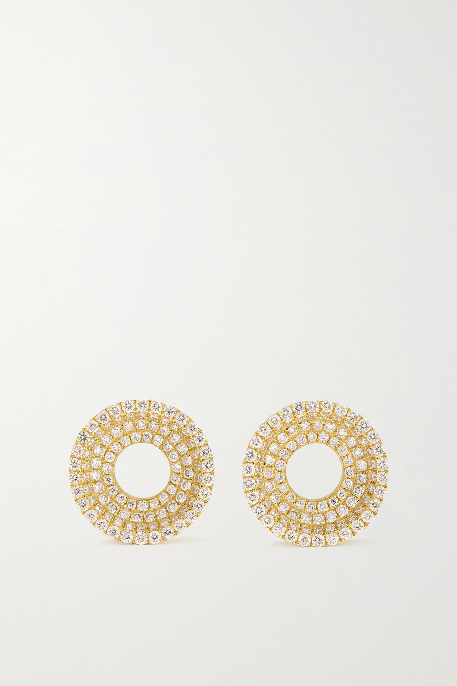 State Property Drew 18-karat gold diamond earrings