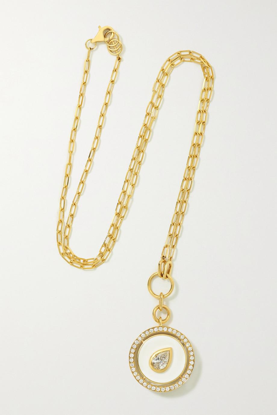 State Property Aebi 18-karat gold, enamel and diamond necklace