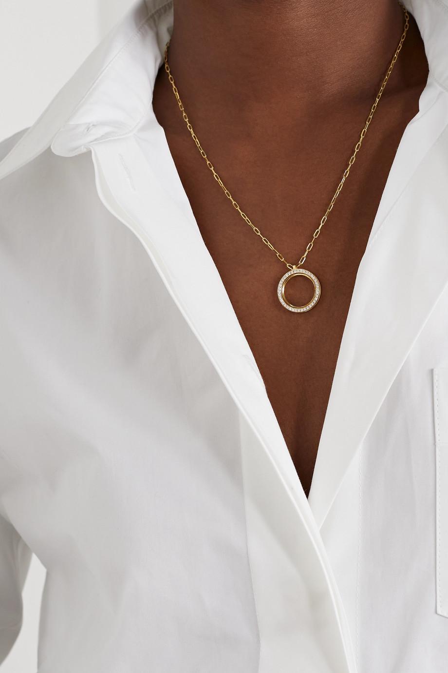 State Property George 18-karat gold, diamond and onyx necklace