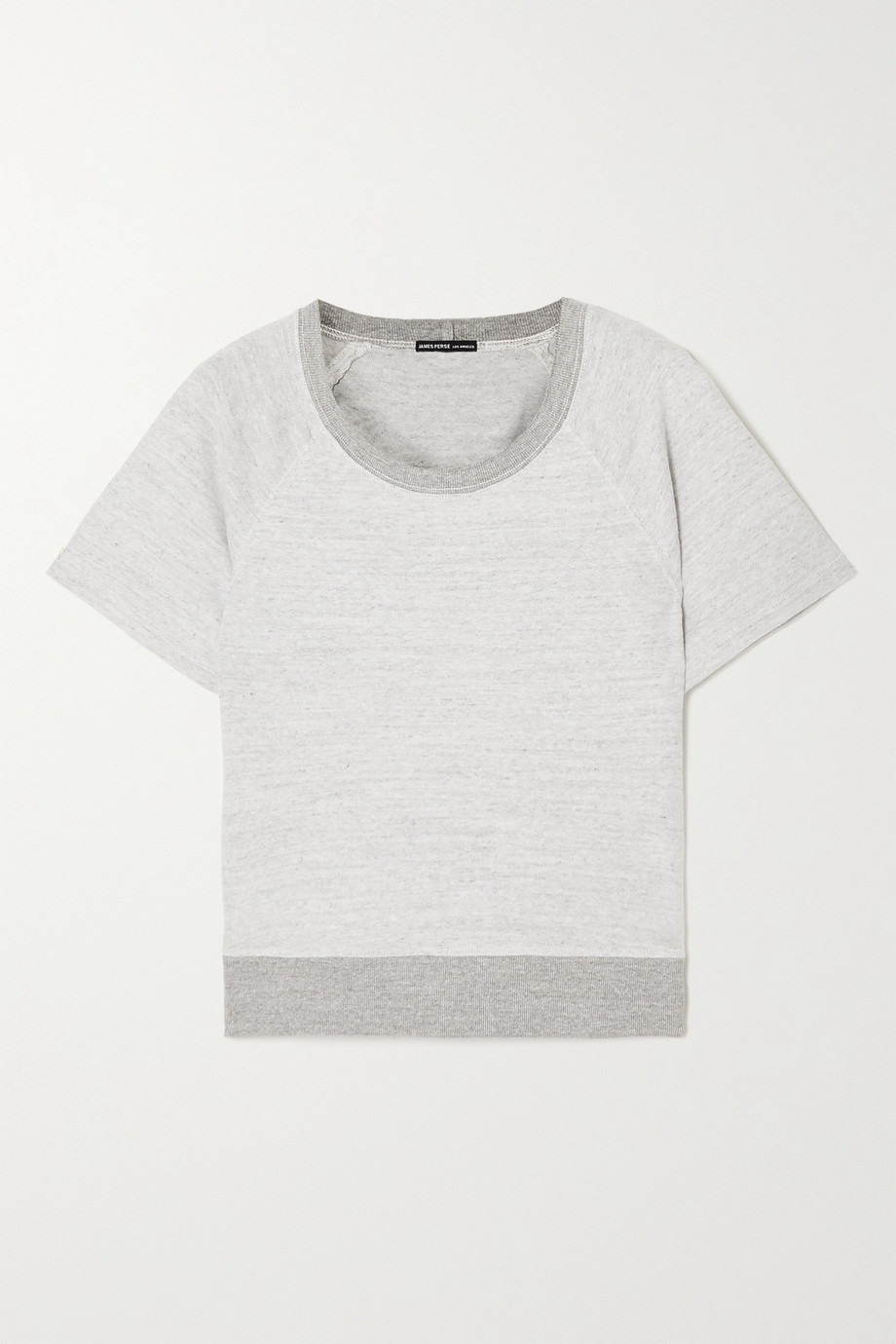 James Perse Patched mélange cotton-jersey top