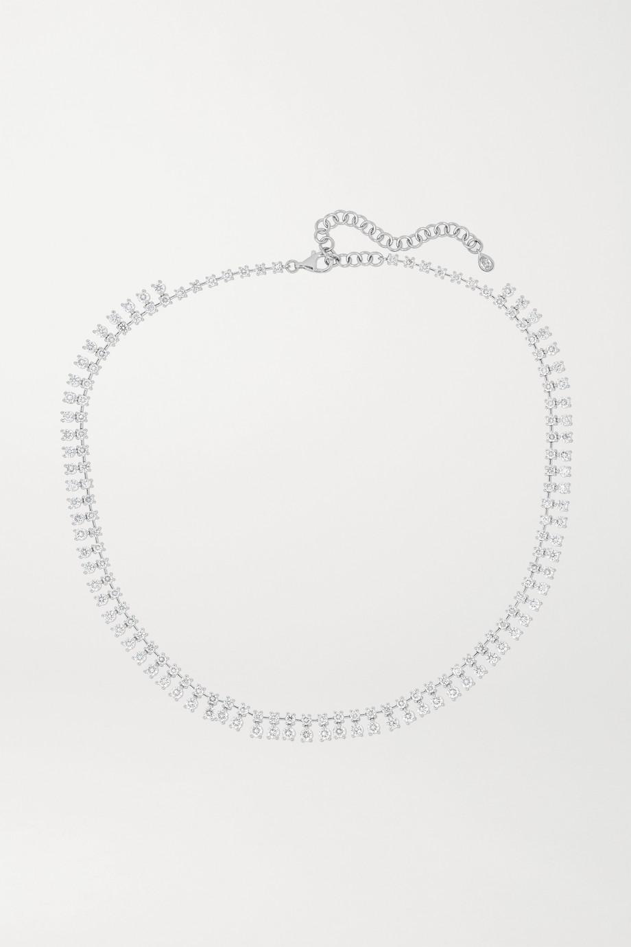 Anita Ko Shaker 18-karat white gold diamond necklace